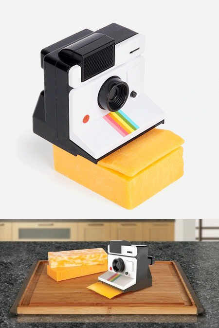 ↑ Polaroid Cheese Slicer