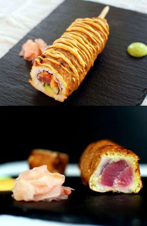 ↑ Sushi Corn Dogs