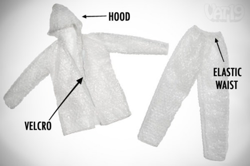 ↑ The Bubble Wrap Suit