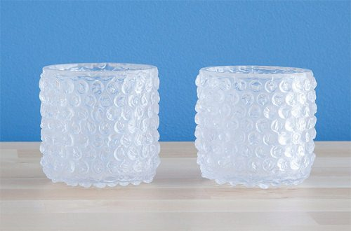 ↑ bubble wrap glass set