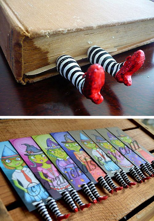 ↑ Stripey Leggings Bookmark